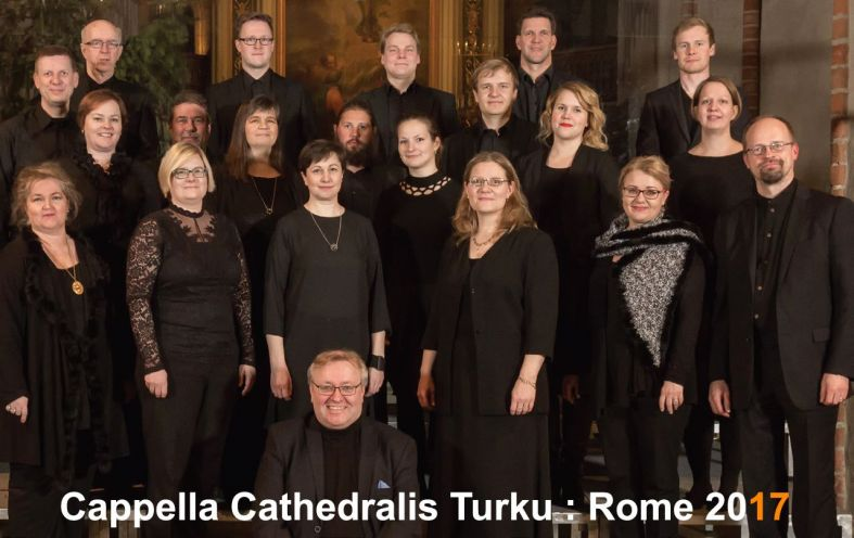 <strong>L</strong><strong style=&quot;mso-bidi-font-weight: normal;&quot;>a Cappella Cathedralis Turku<br />in concerto a Roma<br /></strong>